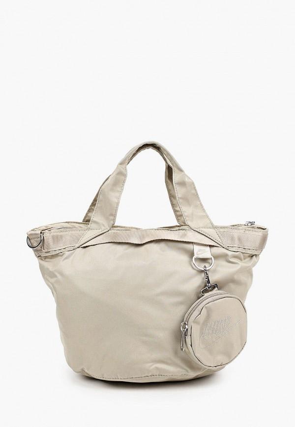 женская сумка nike, бежевая
