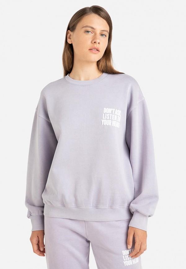Свитшот Gloria Jeans фиолетового цвета