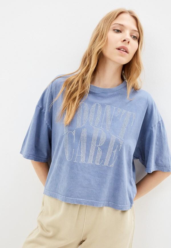 женская футболка gloria jeans, голубая