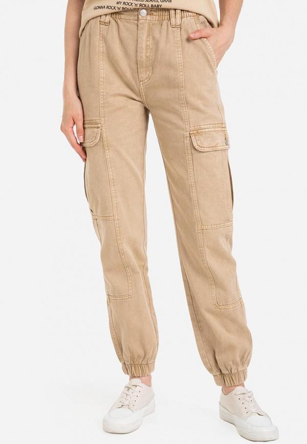 Брюки Gloria Jeans коричневого цвета