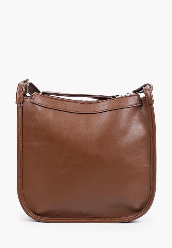 женская сумка через плечо love republic, коричневая