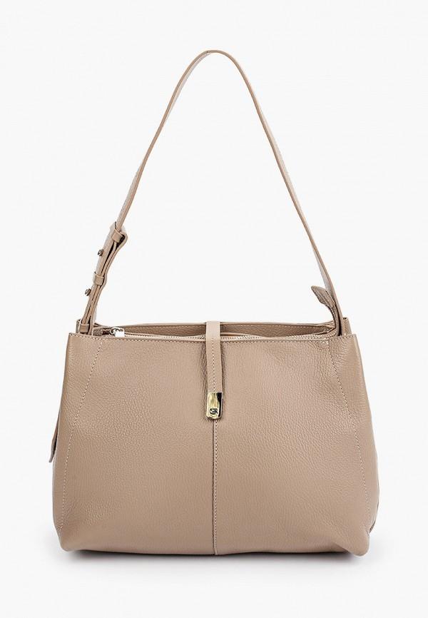 женская сумка с ручками afina, бежевая
