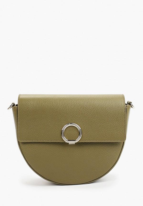 женская сумка через плечо afina, хаки