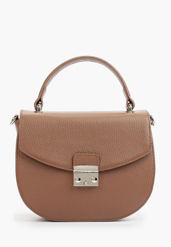 женская сумка-кроссбоди afina, коричневая