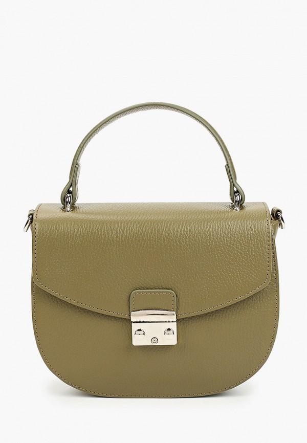 женская сумка через плечо afina, зеленая