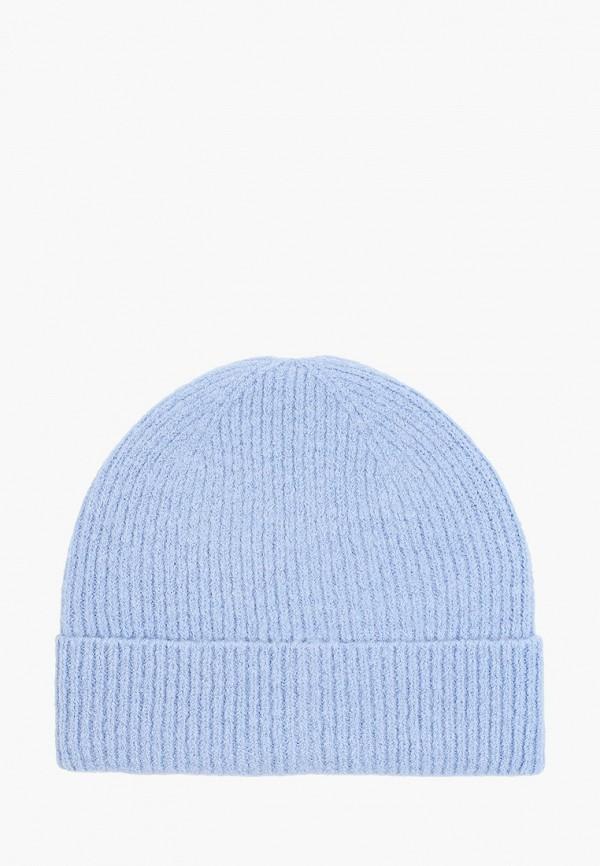 женская шапка zarina, голубая