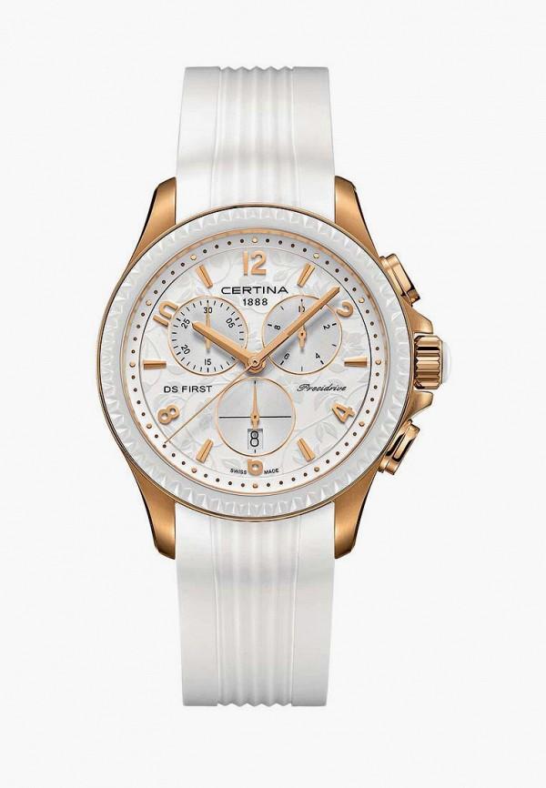 женские часы certina, белые