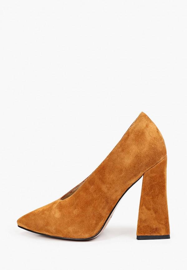 женские туфли с закрытым носом mascotte, коричневые