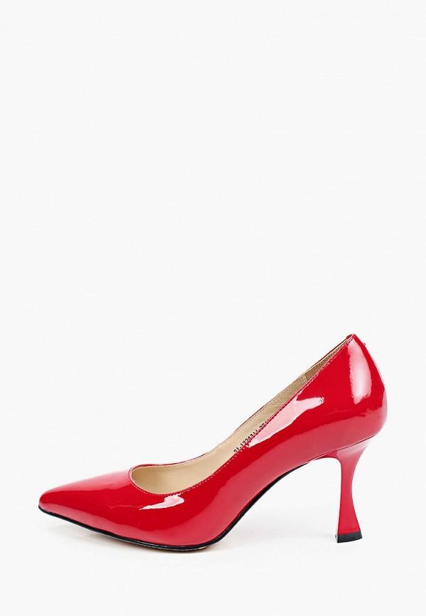 женские туфли-лодочки mascotte, красные