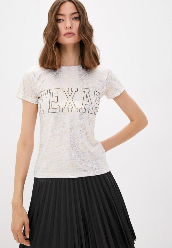 женская спортивные футболка blacksi, золотая
