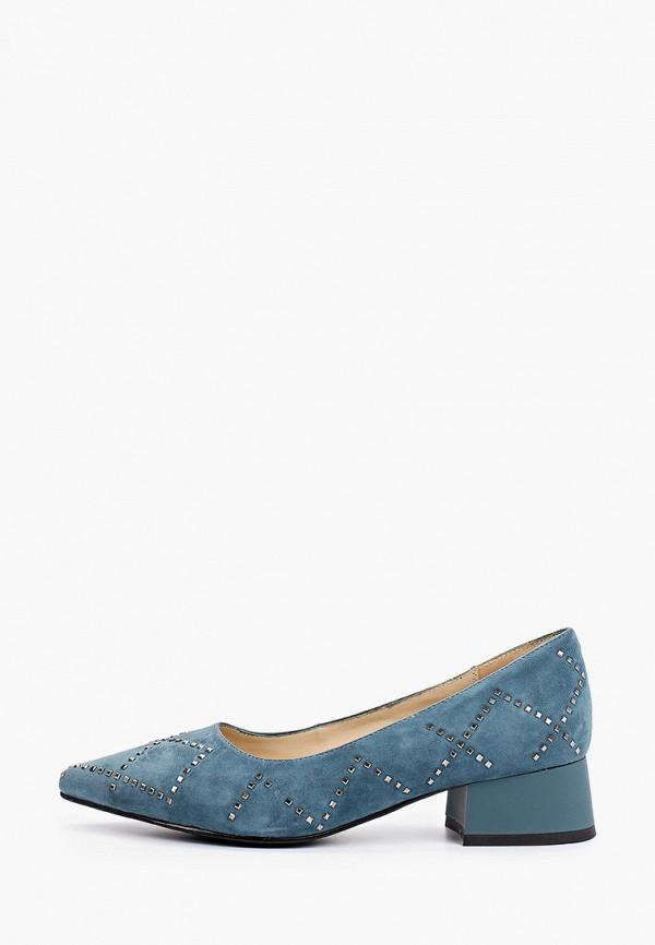 женские туфли с закрытым носом mascotte, голубые