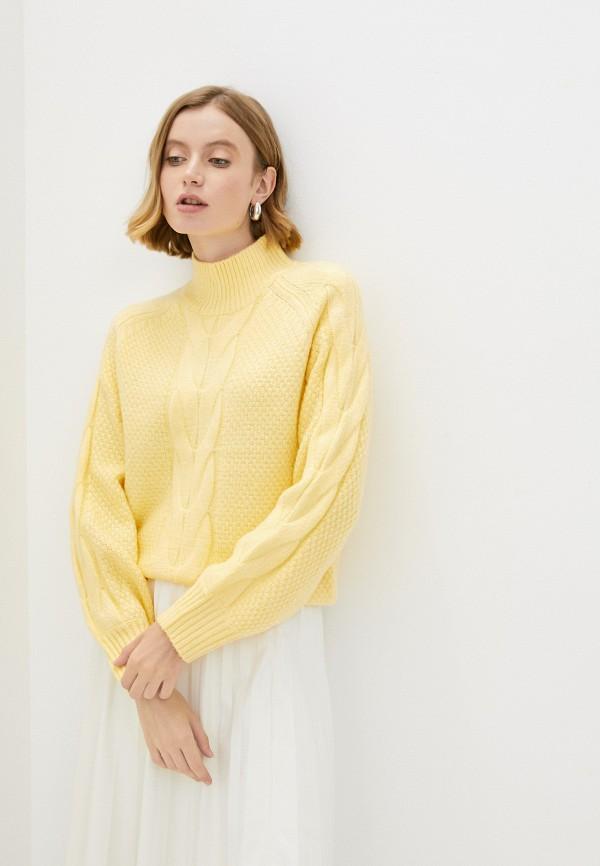 женский джемпер baon, желтый
