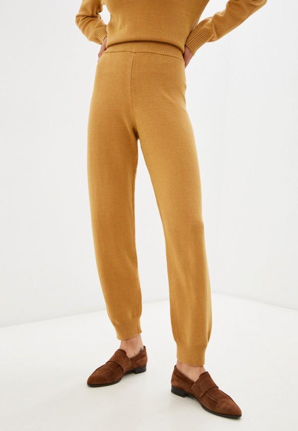 женские брюки джоггеры baon, оранжевые