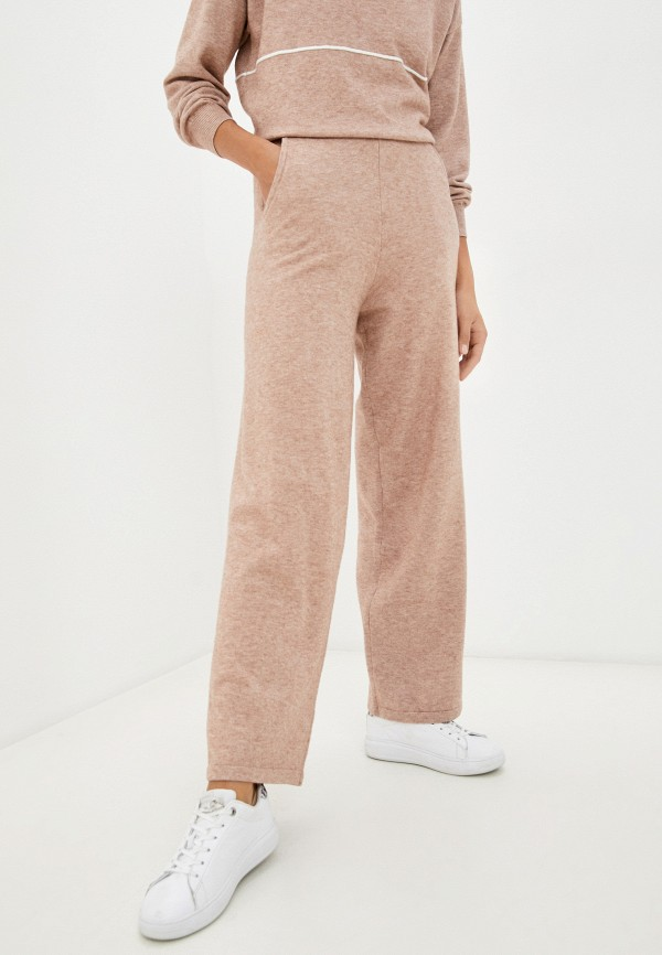 женские повседневные брюки baon, бежевые