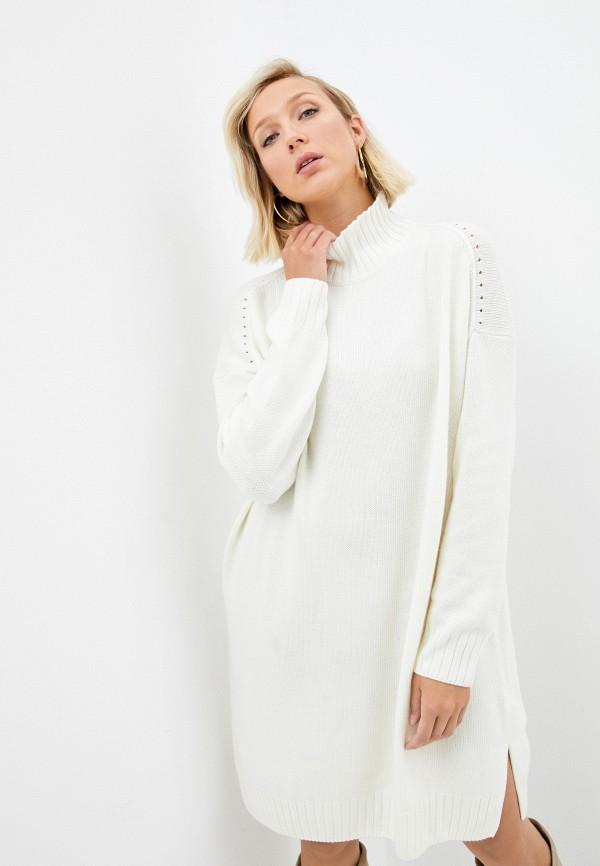 женское платье-свитеры baon, белое