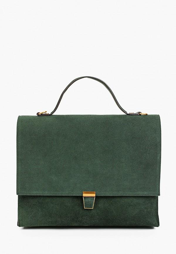 женская сумка с ручками mascotte, зеленая