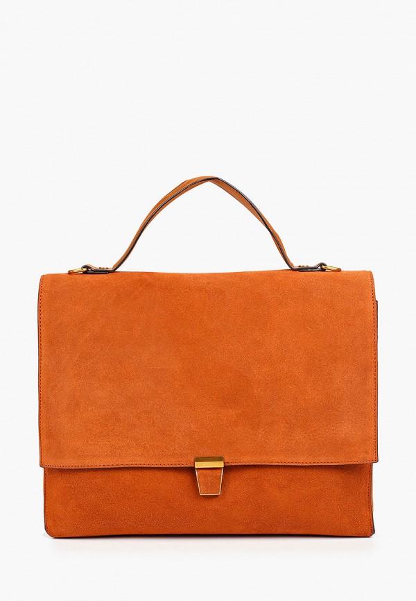 женская сумка с ручками mascotte, оранжевая