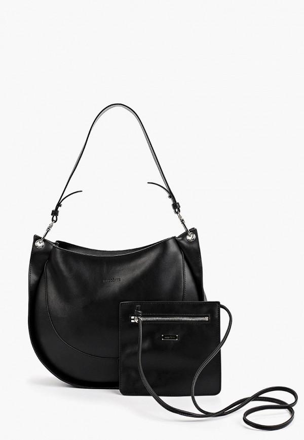 женский кошелёк с ручками mascotte, черный