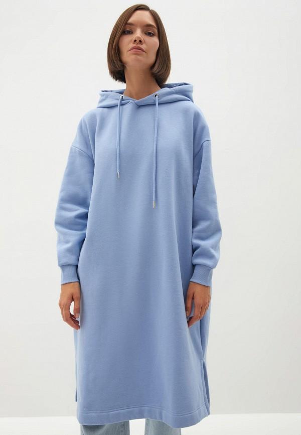 женские худи zarina, голубые