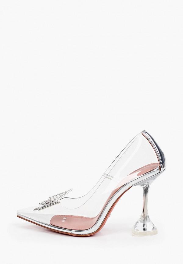 женские туфли-лодочки араз, серебряные