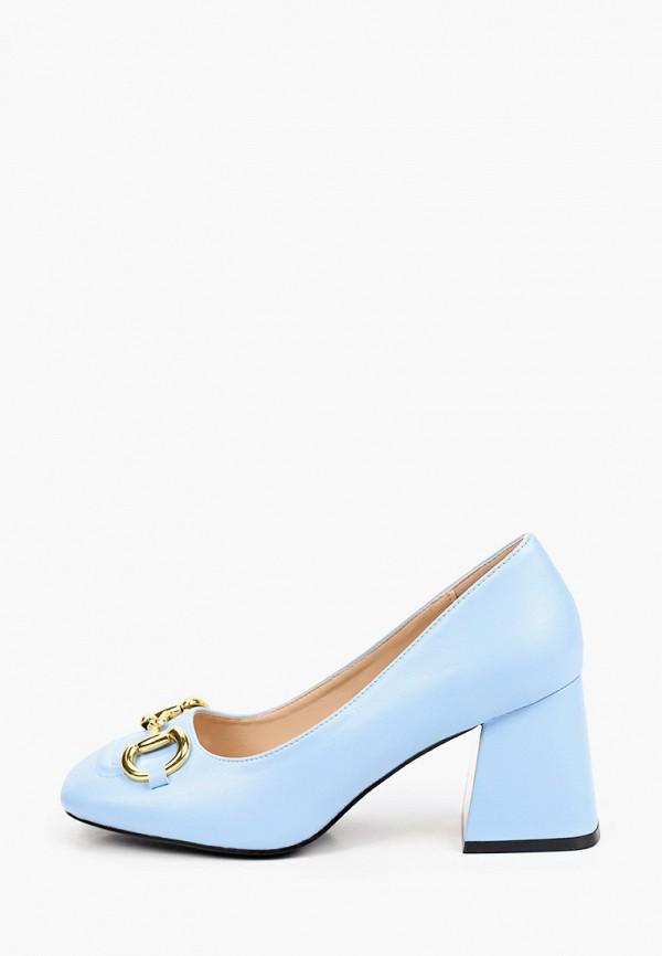 женские туфли с закрытым носом vivian royal, голубые