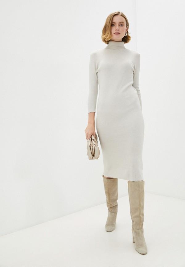 женское платье-свитеры vitacci, бежевое