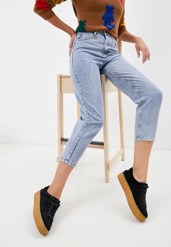 женские джинсы-мом vitacci, голубые