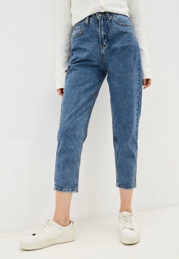 женские джинсы-мом vitacci, синие