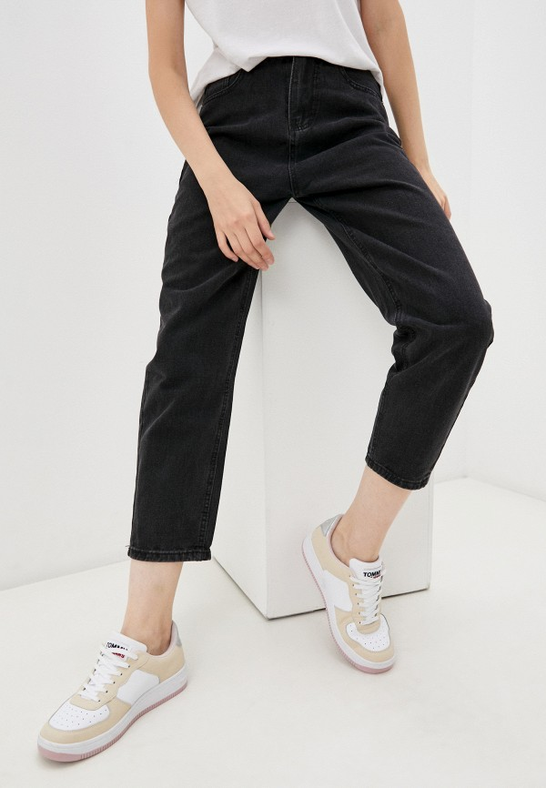 женские джинсы-мом vitacci, черные