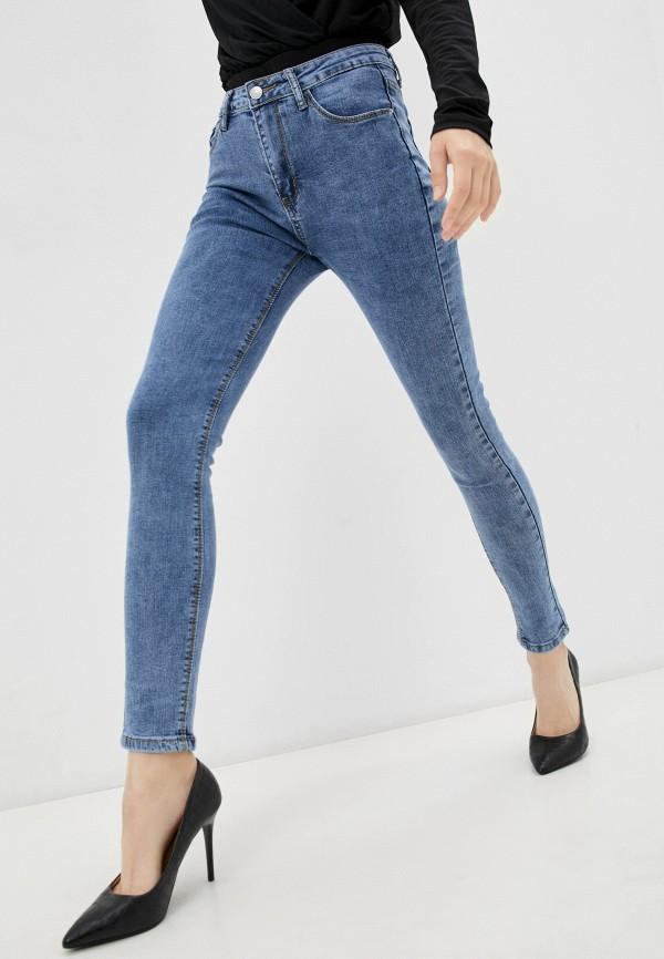женские джинсы скинни vitacci, голубые