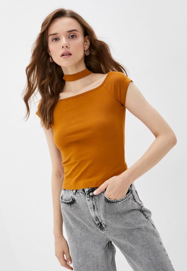 женская футболка vittoria vicci, коричневая