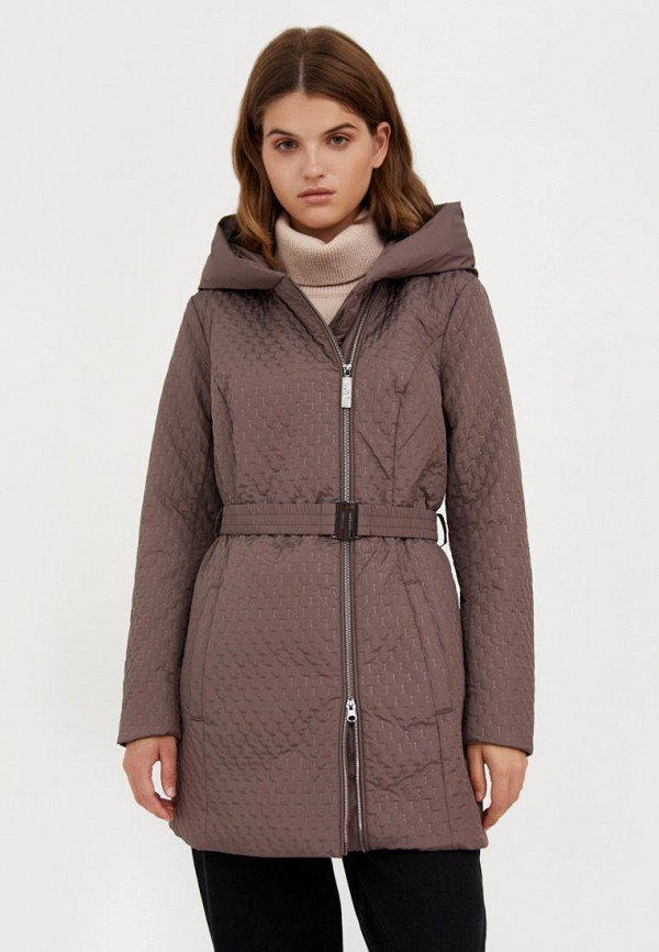 Куртка утепленная Finn Flare коричневого цвета
