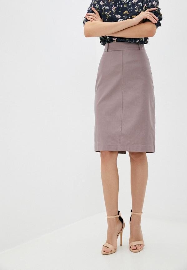 женская прямые юбка eliseeva olesya, розовая