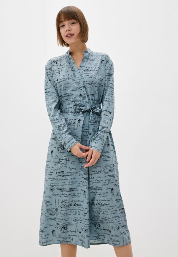 женское платье с запахом eliseeva olesya, бирюзовое