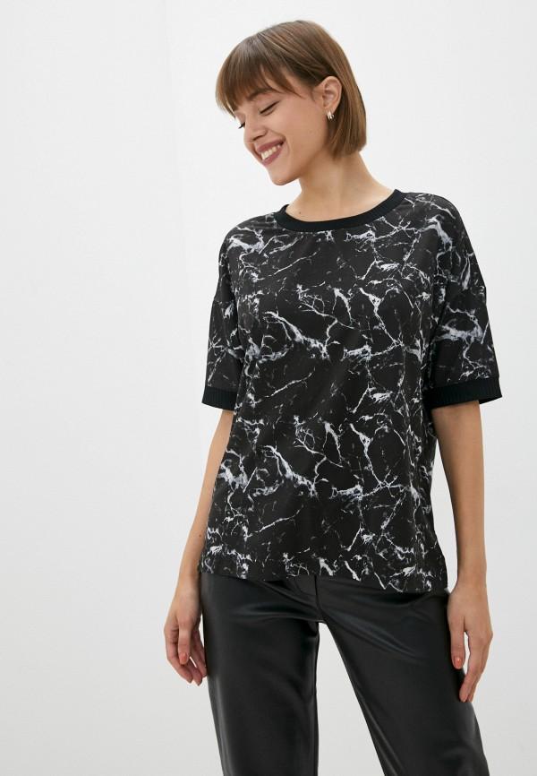 женская блузка с коротким рукавом eliseeva olesya, черная