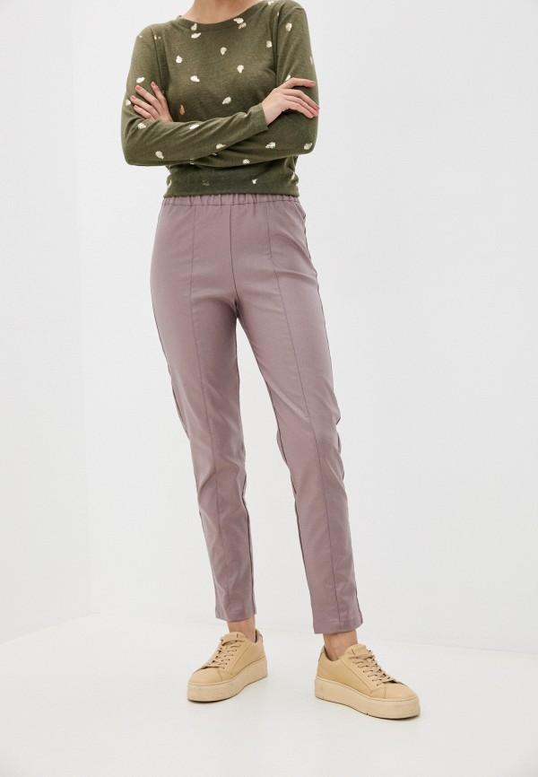 женские зауженные брюки eliseeva olesya, розовые