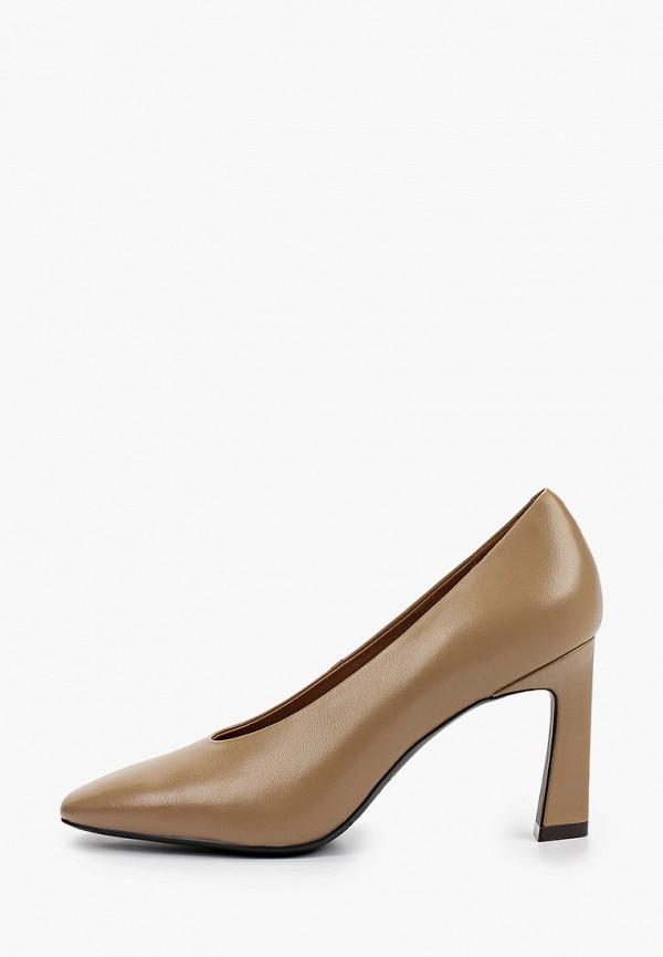 женские туфли с закрытым носом ekonika, коричневые