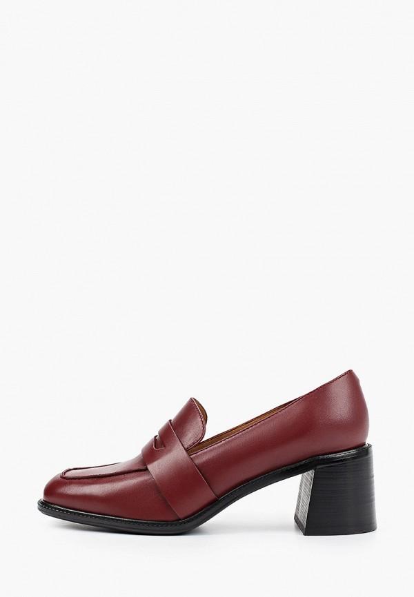 женские туфли с закрытым носом ekonika, бордовые