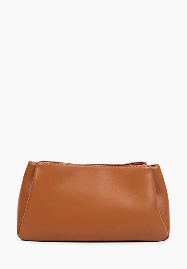 женская сумка через плечо ekonika, коричневая