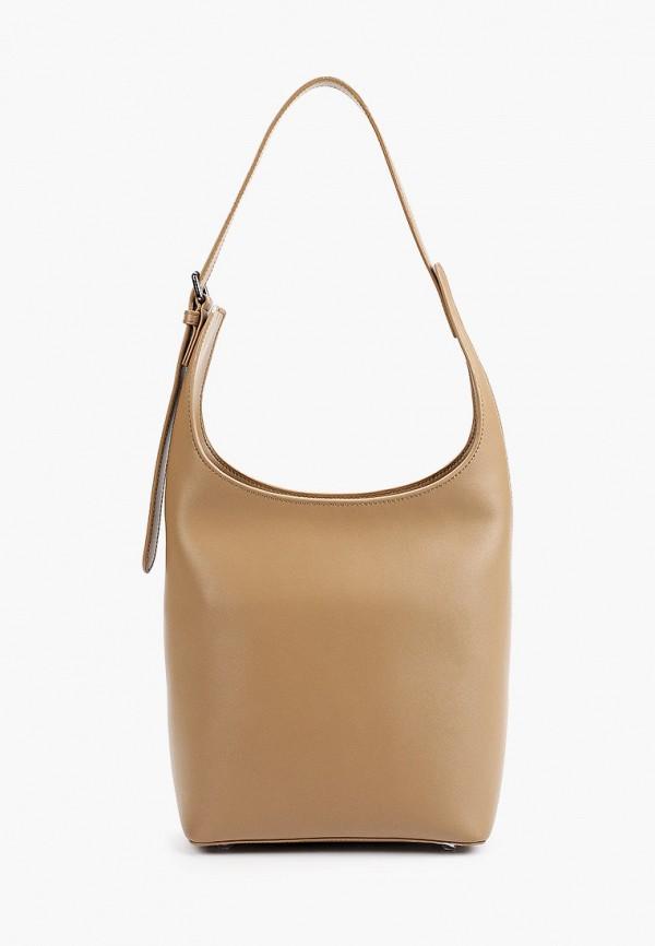 женская сумка с ручками ekonika, бежевая