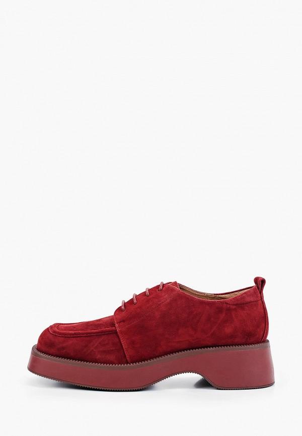 женские низкие ботинки ekonika, бордовые