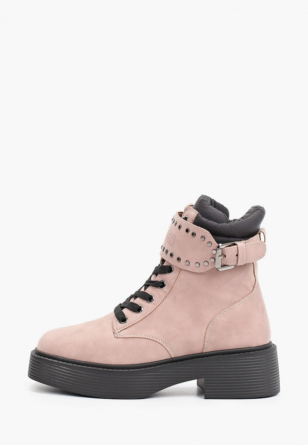 женские высокие ботинки keddo, розовые