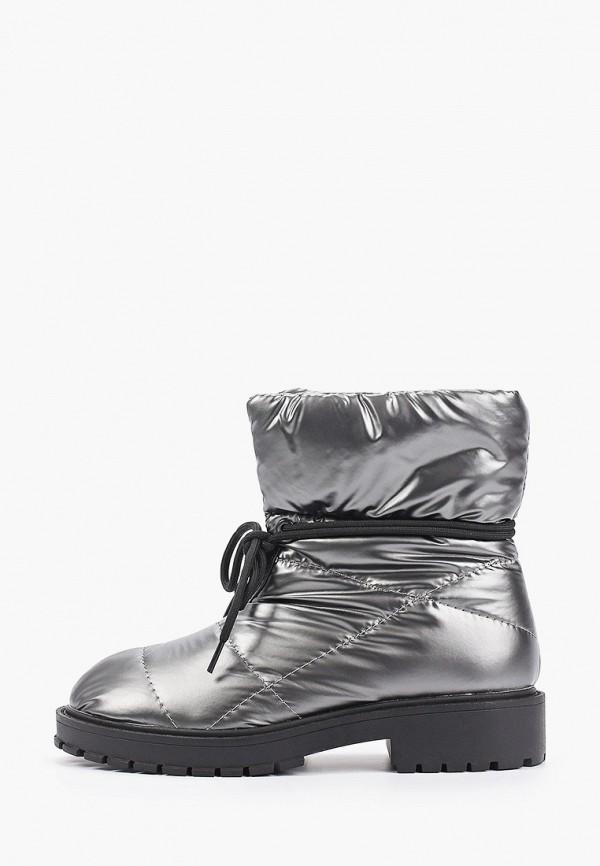 женские высокие ботинки betsy, серебряные