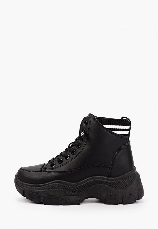 женские высокие ботинки crosby, черные