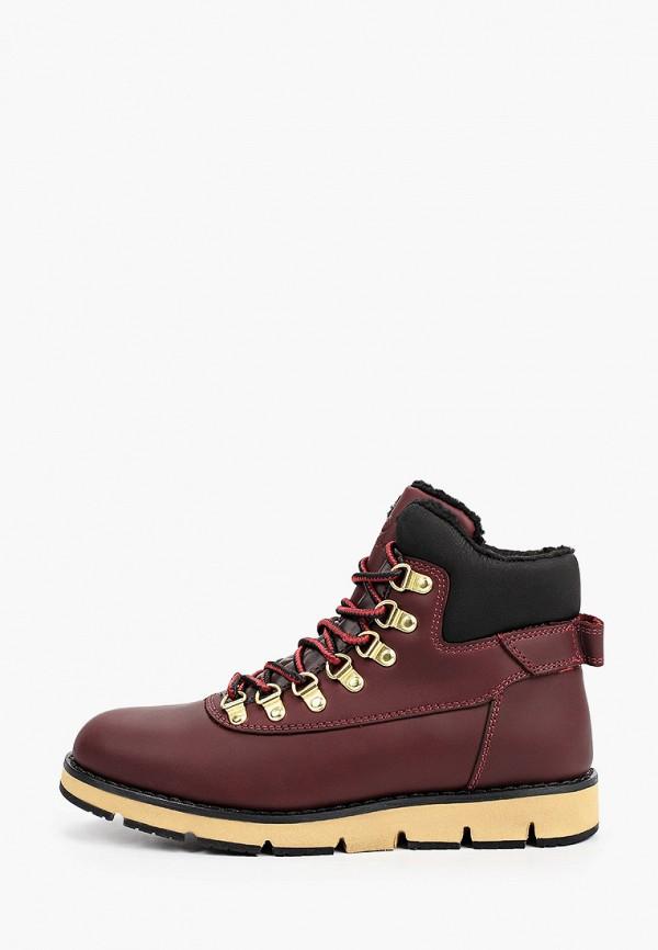 женские высокие ботинки donna d'oro, бордовые