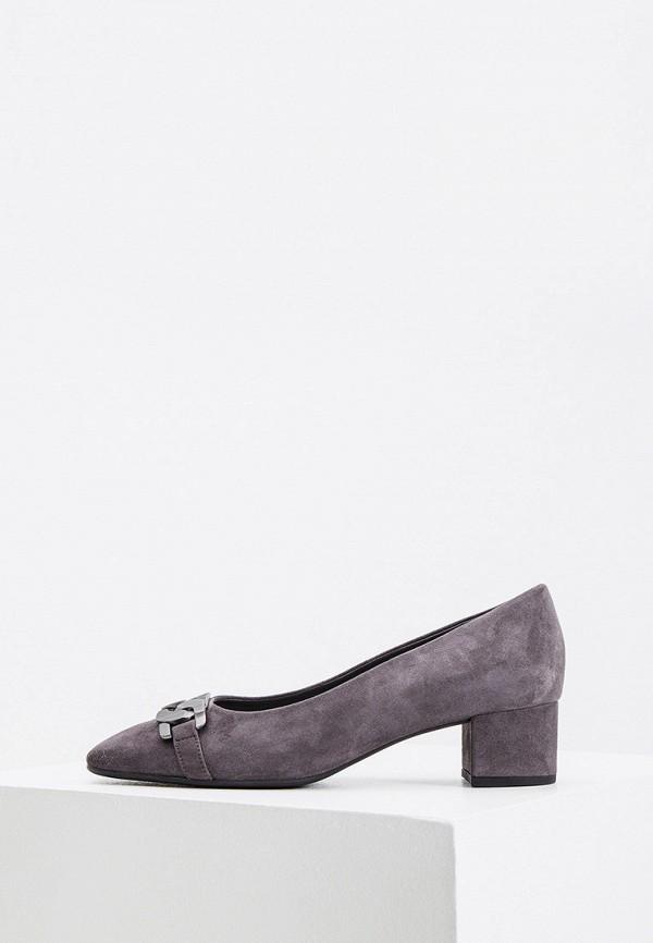 женские туфли с закрытым носом hogl, серые