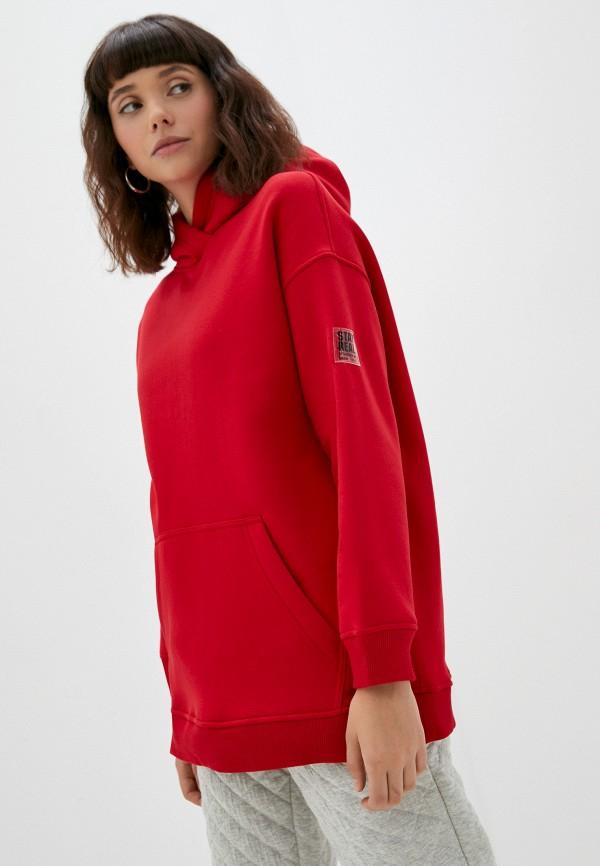 женские худи baon, красные