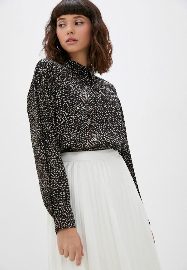женская блузка с длинным рукавом baon, черная