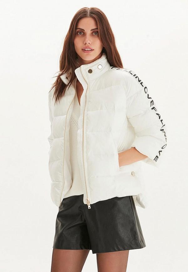 женская утепленные куртка love republic, белая