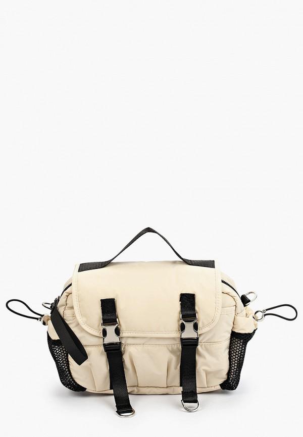 женская сумка через плечо zolla, бежевая